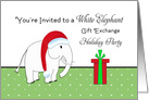 White Elephant Gift Exchange Card-Holiday Christmas Party-Present card