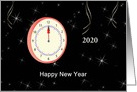 Business New Year's Card with Clock-Custom card