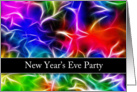 Abstract New Year's Eve Party Invitation card