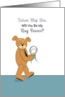 For Future Step Son Will You Be My Ring Bearer Greeting Card-Bear Ring card