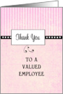 For Employee-Employee Appreciation Thank You Card