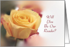 Will You Be Our Reader Invitation-Yellow Rose card