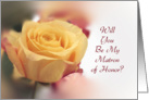 Will You Be My Matron of Honor Invitation-Yellow Rose-Bridal Party card
