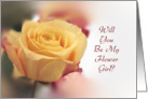 Will You Be My Flower Girl Invitation with Yellow Rose card