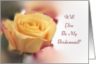 Will You Be My Bridesmaid Invitation-Yellow Rose card