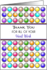 For Employee Thank You Appreciation Greeting Card-Circle Background card