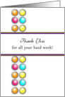Employee Thank You Appreciation Greeting Card-Circle Background card