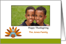 Thanksgiving Photo Card with Turkey Design-Customizable Text card