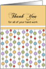 Business Employee Thank You Greeting Card-Thank You-Dots card