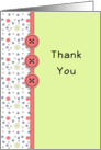 Employee Thank You Greeting Card-Button and Star Look card