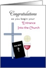 RCIA Rite of Christian Initiation in the Church-Convert-Bible-Greeting card