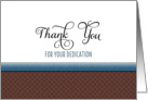 Employee Anniversary Greeting Card-Thank You Card-Dedication card
