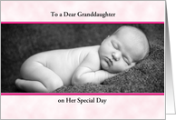 For Granddaughter Christening/Baptism Greeting Card-Customizable Text card