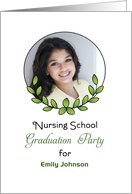 Nursing School Graduation Party Invitation-Photo Card-Custom Text card