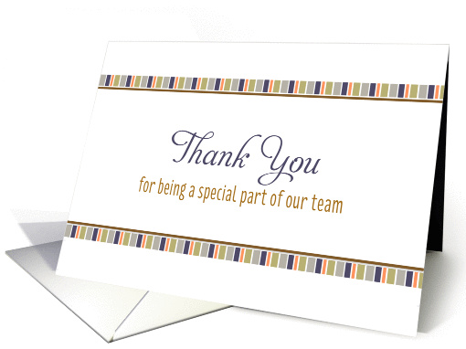 For Employee Business Thank You Card-Mini Stripe Design card (1145212)