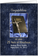 Priesthood 25th Anniversary of Religious Life-Customizable Text card