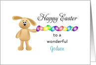 For Godson Easter Card with Easter Bunny & Easter Egg Border card