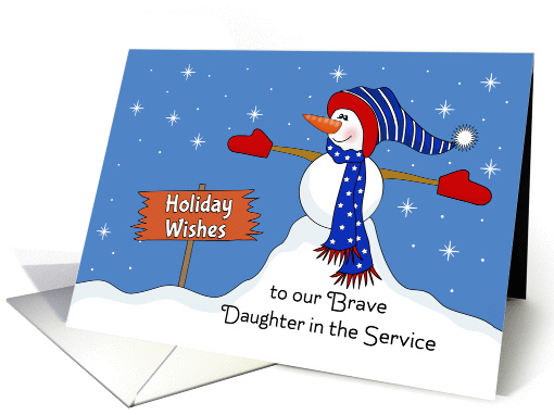 For Our Daughter in the Service Christmas Card-Patriotic... (1172700)