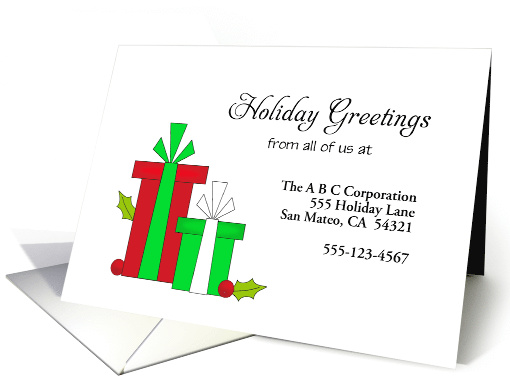 From Business Christmas Card-Custom-Red & Green Christmas... (1180052)