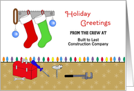 From Contractor Christmas Card-Customizable-Tools-Ornaments-Stockings card