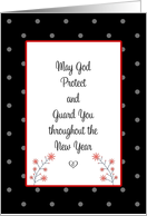 Religious New Year Card-May God Protect and Guard You card