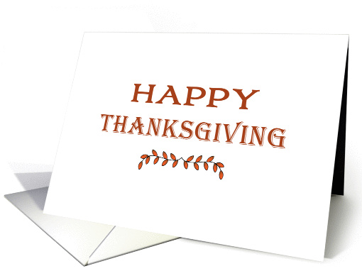 General Thanksgiving Card with Small Leaf Design card (1181828)