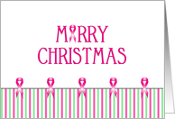 Breast Cancer Christmas Card - Merry Christmas-Breast Cancer Ribbons card