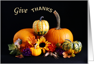 Give Thanks Thanksgiving Card-Pumpkins and Gourds card