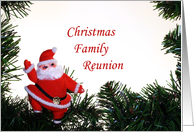 Christmas Family Reunion Invitation card