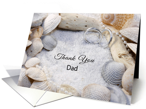 Thank You for the Wedding Greeting Card for Dad-Beach... (339297)