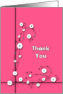 Thank You in Pink card