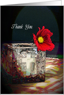 Thank You for Wedding Ceremony Greeting Card-Cross-Poppy card
