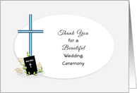 For Officiant-Thank You for Wedding Ceremony Greeting Card-Cross card