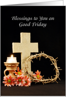 Blessings to you on Good Friday card