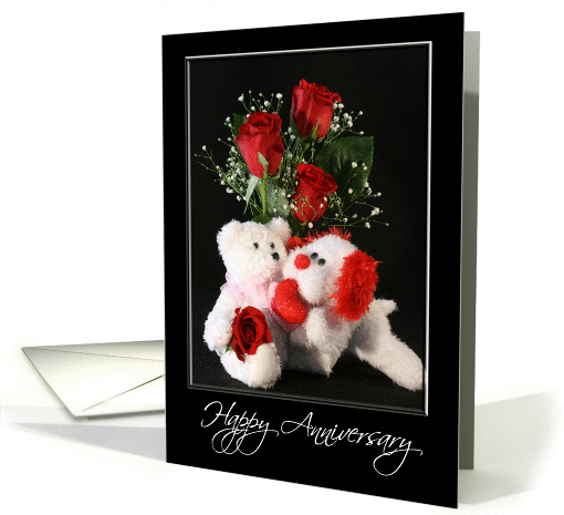 General Anniversary Greeting Card with White Bear, Dog and... (371993)