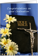 Congratulations on your Ordination card