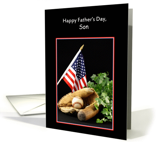 For Son Father's Day Greeting Card with Sports Theme card (435006)