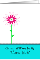 Cousin, Will You Be My Flower Girl card