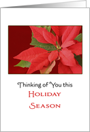 Remembrance Christmas Card-Thinking of You this Holiday Season card