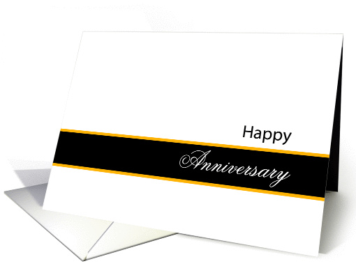 Anniversary Card Classic Black and White Design card (546572)