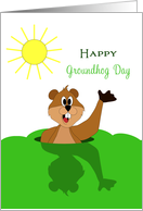 Happy Groundhog Day Card with Shadow-Sun-February 2 card