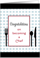 Becoming a Chef Card-Fork, Spoon and Knife card