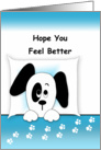 Get Well Card With Puppy card