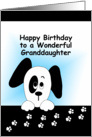 Granddaughter Birthday with Puppy Dog card
