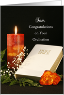 For Son Ordination Greeting Card-Ordination Congratulations Card