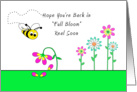 Get Well - Bumble Bee and Flowers card