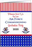 Air Force Commissioning Graduation Invitation Card-Customizable Text card