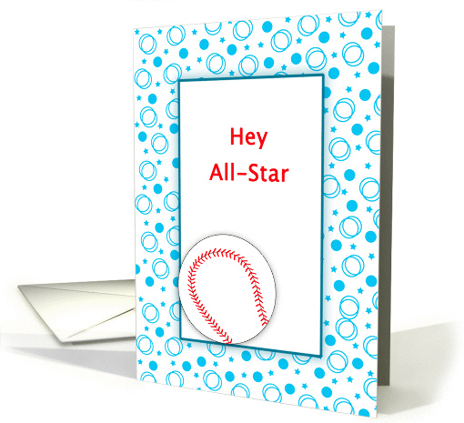 For Cancer Patient-Get Well Feel Better Greeting Card-Baseball card