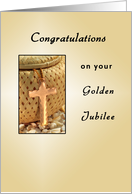 Golden Jubilee-50th Anniversary Greeting Card-Religious Life-Cross card