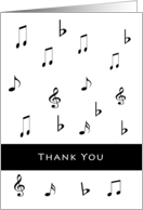 For DJ Thank You For Wedding Music Greeting Card-Musical Notes card